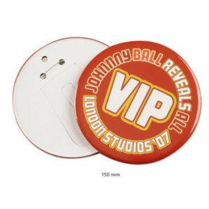 Branded 150mm Circle Button Badges