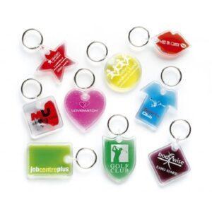 Branded Aqua Keyrings
