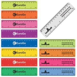 Branded Coloured Flexi Rulers