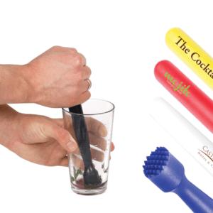 Branded Coloured Plastic Muddler