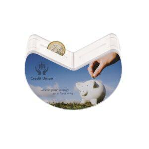 Branded Crescent Coin Box