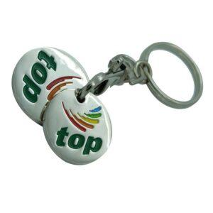 Branded Double Trolley Token Keyring