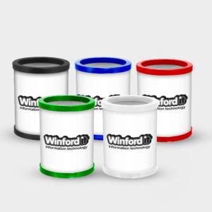 Branded Full Colour Pen Pots