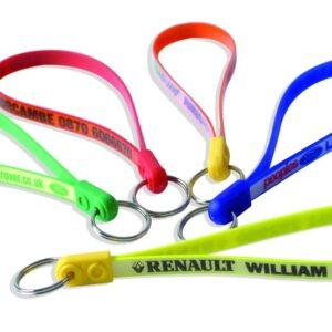 Branded Jumbo Ad-Loop Keyrings