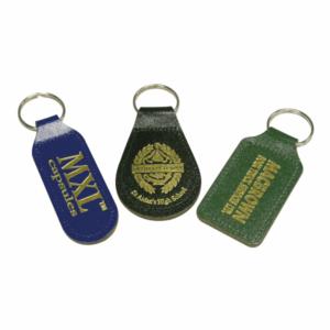 Branded Leather Shaped Keyrings