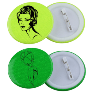 Branded Neon Button Badges