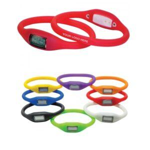 Branded Oval Silicone Watch