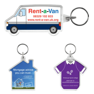 Branded Shaped Keyrings with Insert