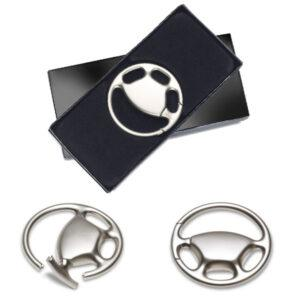 Engraved Steering Wheel Shaped Keyring