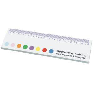 Branded Sticky-Smart Ruler Notes