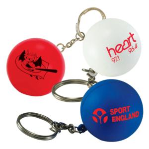 Branded Stress Toy Keyring
